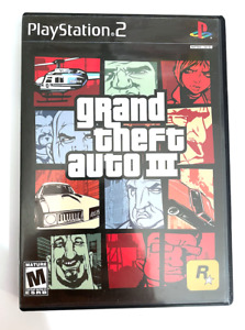 GRAND THEFT AUTO III PLAYSTATION 2 Ps2 Game GTA 3 COMPLETE BLACK LABEL