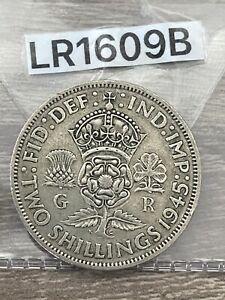 George VI, Florin, 2 Shillings, 1945, 0.500 Silver