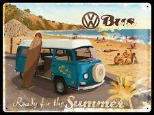 Vintage Style Retro pesada placa de metal repujado en/Signo de estaño-VW Surf Autobús
