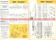 OPEL Senator - 1984 : Fiche Technique Auto Carrosserie / Peinture