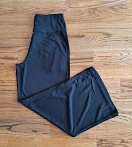 Fabletics Running Athletic Wide Leg Sweat Lounge Pants Women's Size M Black EUC