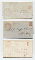 5 1845-50 Mount Morris NY stampless covers including negative 10 rate [5246.416]