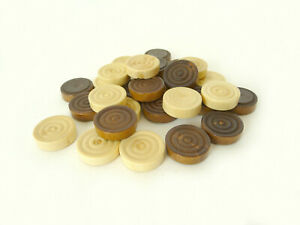 """Spare Parts : Mini Draughts or Backgammon Wood Pieces Movers - 0.75"""" / 20mm"""