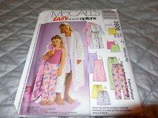 MC CALLS CHLD AND GIRLS PJ, GOWN, TOP AND ROBE PATTERN SZ M,L,XL  3906