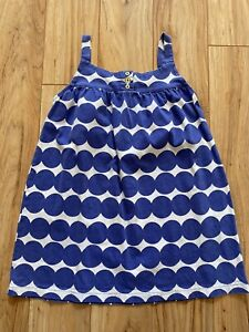 Mini Boden Blue Dot Pinafore Tunic. Sz 7-8y. GUC