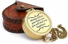 Vintage Engraved Compass Directional Magnetic Personalized Gift for Camping Gift