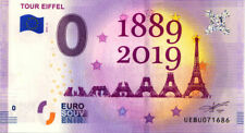 75007 Tour Eiffel 5, 1889-2019, 2019, Billet 0 € Souvenir