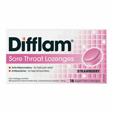 Difflam Anti-Inflammatory Sugar Free Strawberry 16 Lozenges - Free Post!