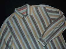TOMMY BAHAMA Men's Button Front Shirt ~ Large ~ 100% Silk ~ Long Sleeves