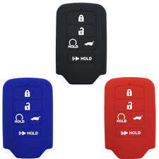 Qty 3 color Rubber Key Fob Case Cover Keyless Remote fit for Hyundai S840841842