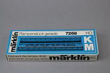 V209 Marklin train Ho Element rampe droit 7268 Märklin Rampenstück gerade