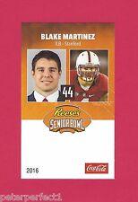 BLAKE MARTINEZ 2016 SENIOR BOWL STANFORD CARDINALS ROOKIE CARD GREEN BAY PACKERS