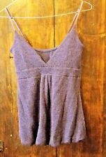 Top lana sottogiacca sottoveste maglia invernale viola spalline maglione maglia