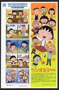 JAPAN 2010 SCOTT 3259 NH ANIMATION SHEET #14 CHIBI MARUKO-CHAN SAKURA-FreeShpUSA