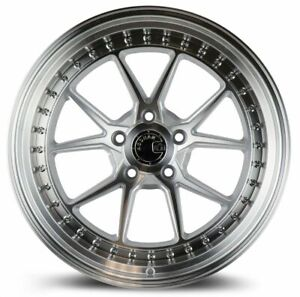 """4-New 19"""" Aodhan DS08 DS8 Wheels 19x8.5 5x120 35 Silver Machined Rims 72.6 Mags"""