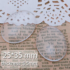 50Pcs 25*35MM Oval Flat Back Transparent Crystal Clear Glass Cabochon Dome C4251