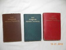 Three Vintage Jehovah's Witnesses Watchtower Year Books 1944 1945 1947