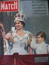 PARIS MATCH N° 0221 REINE ELISABETH II CANON ATOMIQUE LEAUTAUD NIJINSKI 1953