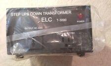 Step up & Down Transformer Output Ac 110 & 220V Elc t-3000