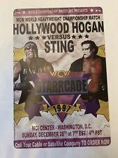 Sting Hollywood Hogan Wcw Starcage Poster Tin Sign Elite Hasbro Ljn Wwe Wwf