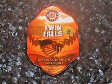 SMALL WORLD TWIN FALLS BEER PUMP CLIP SIGN