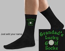 Golf Design Socks Personalised Embroidered Grandad Pop Dad Brother Birthday Gift