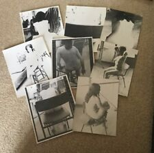 8 x LARGE 1960-70's B&W PHOTOS.FEMALE ARTISTS MODELS,ART NUDES SAT ON CHAIRS
