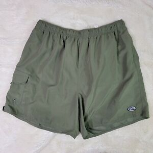 Quicksilver Silver Edition Men's Dark Green Mesh Lined Swim Trunks Size XL EUC