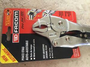Facom 250mm Multi Purpose Angle Nose Lock Grip Locking Plier 580.10