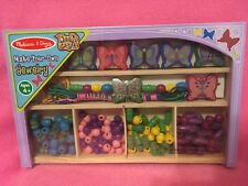 Mel & Doug Wood'nCrafts Make-Your-Own Jewelry Kit Butterfly Garden~Flower Power