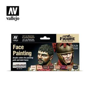 Vallejo Model Color Paint Set 119 - Face Painting (70.119) (x8)