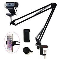 Tencro Webcam Mount Phone Holder Suspension Scissor Arm Webcam Stand Camera for