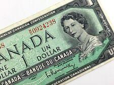 1967 Canada 1 One Dollar MO Prefix Circulated Canadian Elizabeth Banknote M465
