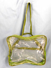 Clear Bag Tote Shoulder Zippered Security Bag Transparent See through mesh top