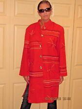 WOMENS JACKET *LARGE* INDIGO MOON NWT RED EMBROIDERED JACKET