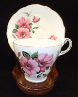 Vintage Regency English Bone China Tea Cup/Saucer - pink flowers,made in England