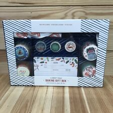 Anthropologie Baking Gift Box Quill & Fox Recipe Cards Cupcake Liner Icing Bag