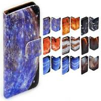 For Samsung Galaxy Series Planet Galaxy Theme Print Wallet Mobile Phone Cover #2