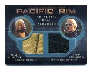 PACIFIC RIM 2014 Wardrobe Dual Leather Relic Card Aleksis & Sasha Kaidanovsky  (