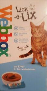 1 Box of Webbox Lick-e-Lix With Liver