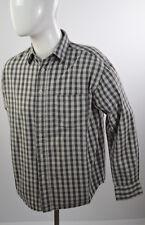 NORTHBROOK Sports Men Shirt Long Sleeves Casual Classics Plaids Sz M 100% Cotton