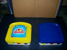 WONDERBREAD SANDWICH KEEPERS WITH LIDS LOT OF 2 GREAT CONDITION