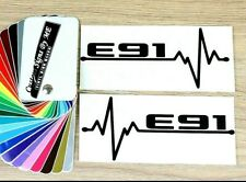 2x BMW E91 EKG Car Side Window Mirror Stickers Bumper Vinyl Decal Adhesive