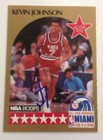 Kevin Johnson 1990 Hoops Hand Signed Card Phoenix Suns