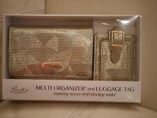 NEW W BOX Buxton Women's YELLOW GOLD WALLET RFID  Organizer Lemon Drop GIFT SET