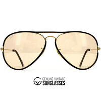 """Vintage RAY-BAN / BAUSCH & LOMB """"LEATHERS"""" sunglasses - GOLD 10K - made USA 80s"""
