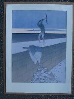 Moebius Kunstdruck print wall Mauer mur 1989 Berlin Durchbruch Deutschland RAR