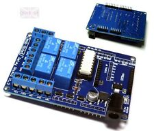 70W DC 4 Mechanical Relay module shield 9V For Arduino UNO R3 XBEE 315 433MHz RF