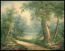 "* 16""x12"" Oil Painting on Canvas, Woodland Pathway, Hand Painted"