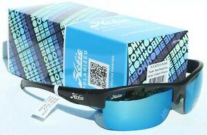 HOBIE Rockpile POLARIZED Sunglasses Satin Black/Cobalt Blue Mirror Surf/Beach
